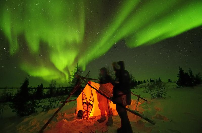 Polarlichter, Aurora Borealis über der Arktis, Hudson Bay, © Thomas Sbampato