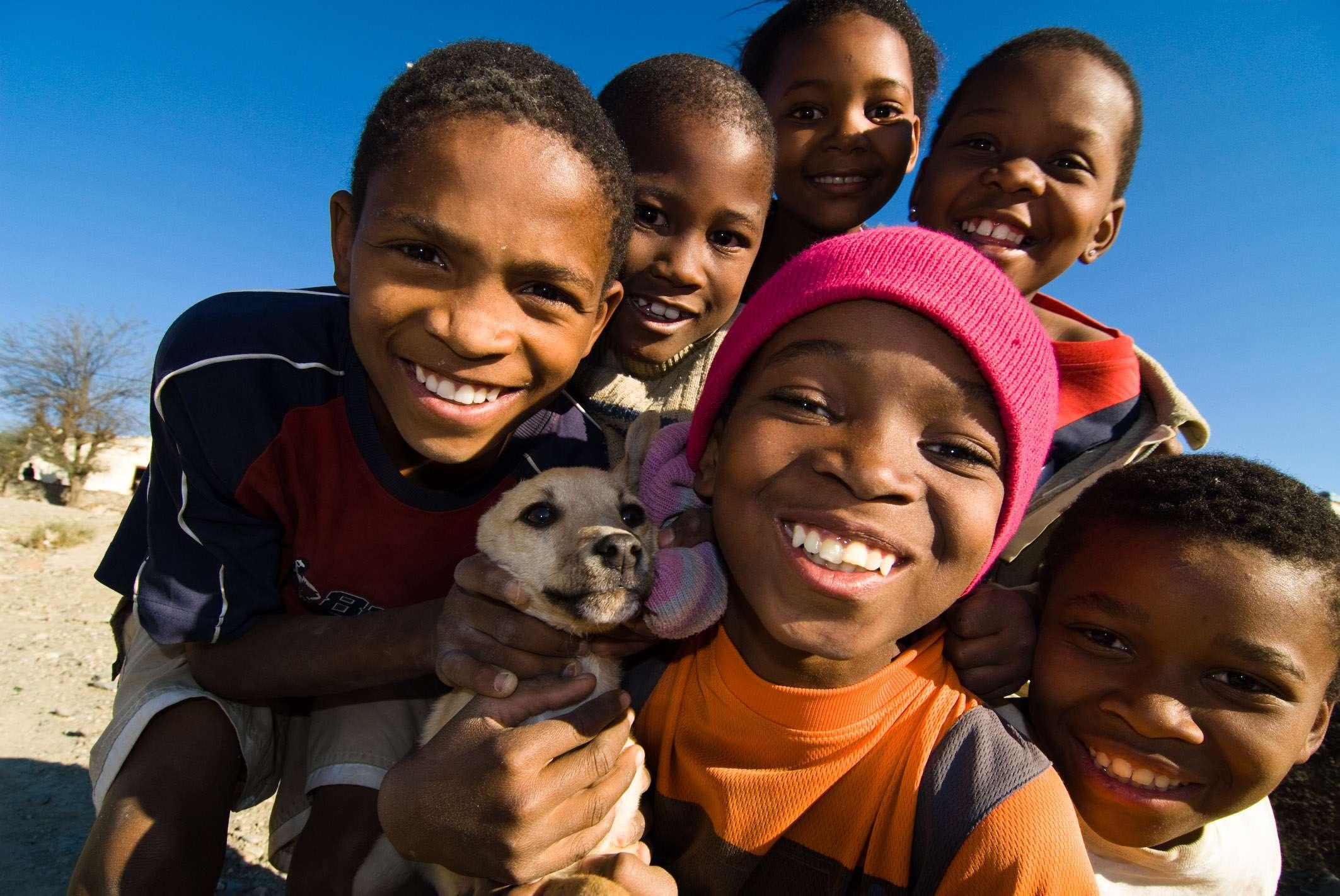 Kinder im Township Graff-Reinet, © Dirk Bleyer