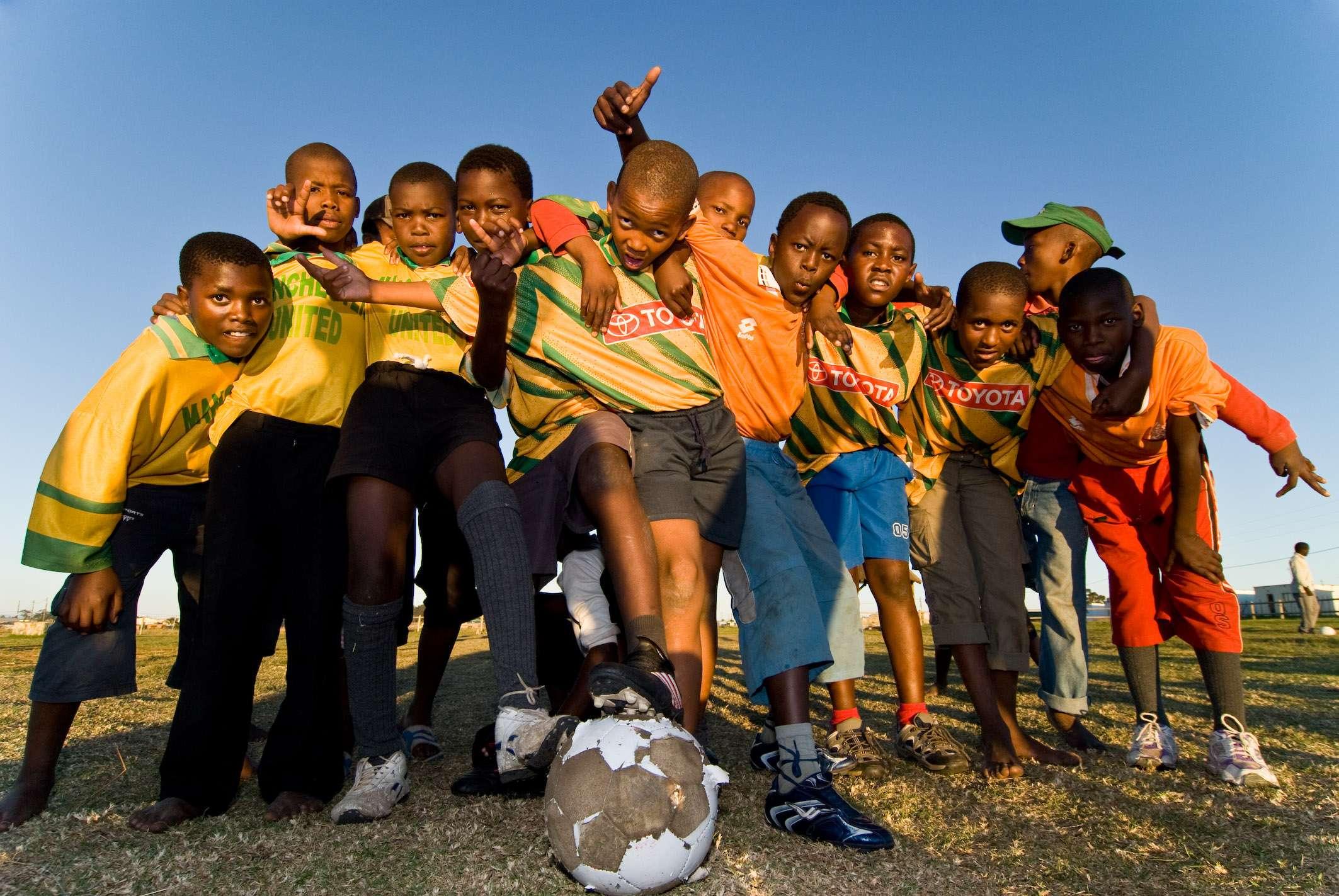 Fußballmanschaft im Township Graff-Reinet, © Dirk Bleyer