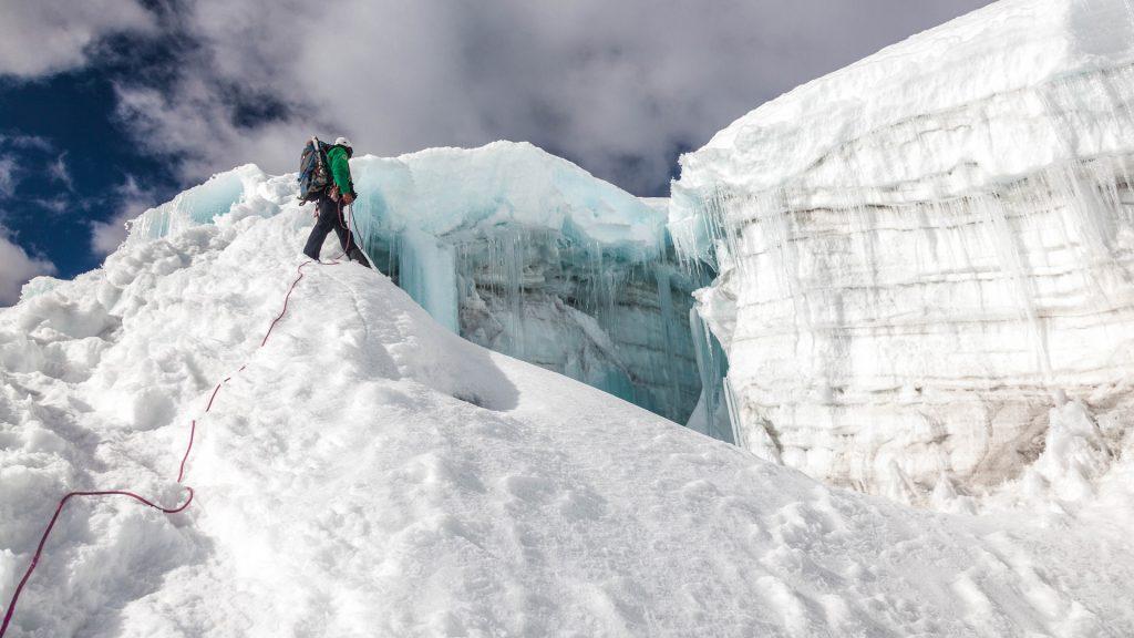Bei der Besteigung des Nevado Ishinca
