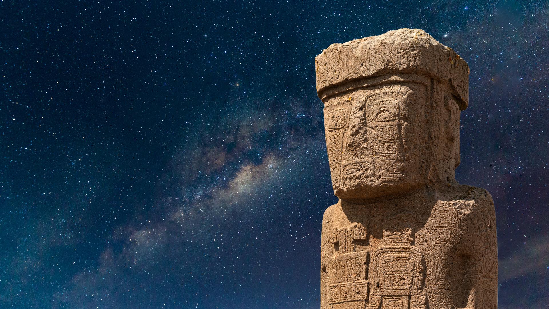 Statue in Tihuanaco