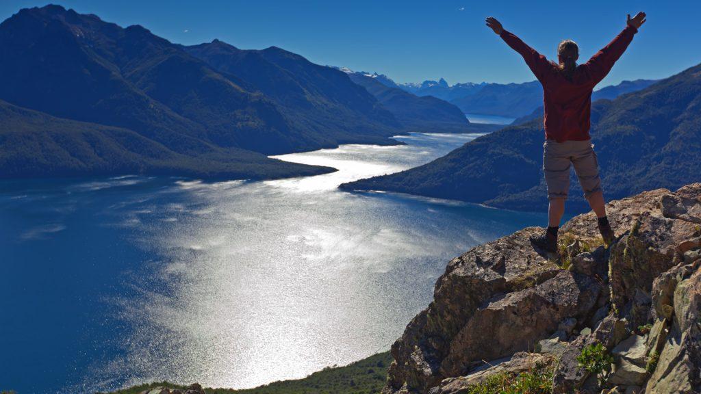 Blick auf den Lago Futalaufquen im Los Alerces Nationalpark