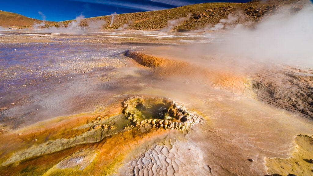 Heiße Quellen im Geysirfeld von El Tatio