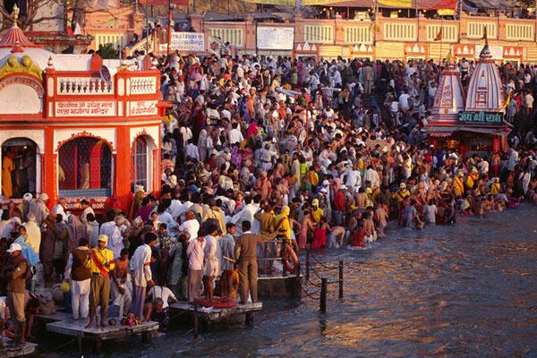 Kumbha Mela, Har-ki-Paori, Haridwar 1998, Uttarkhand