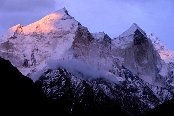 Die Gipfel der Bhagirathis, nördlich von Gangotri, Uttarkhand