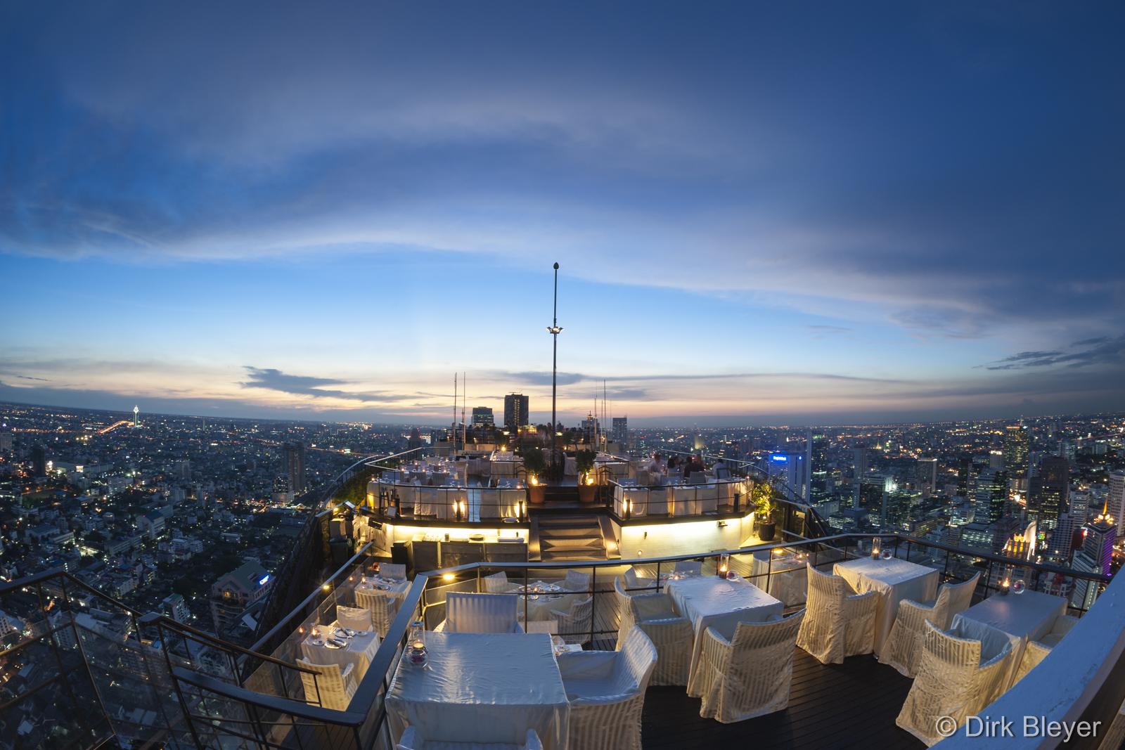 Über den Dächern von Bangkok – Restaurant Vertigo