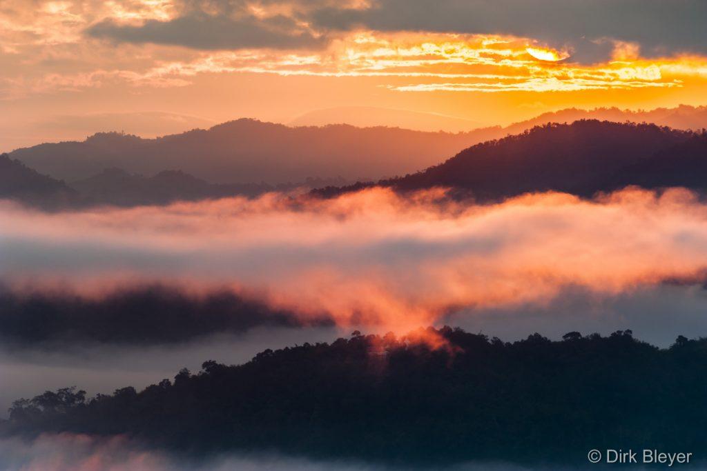 Sonnenaufgang in Nordthailand