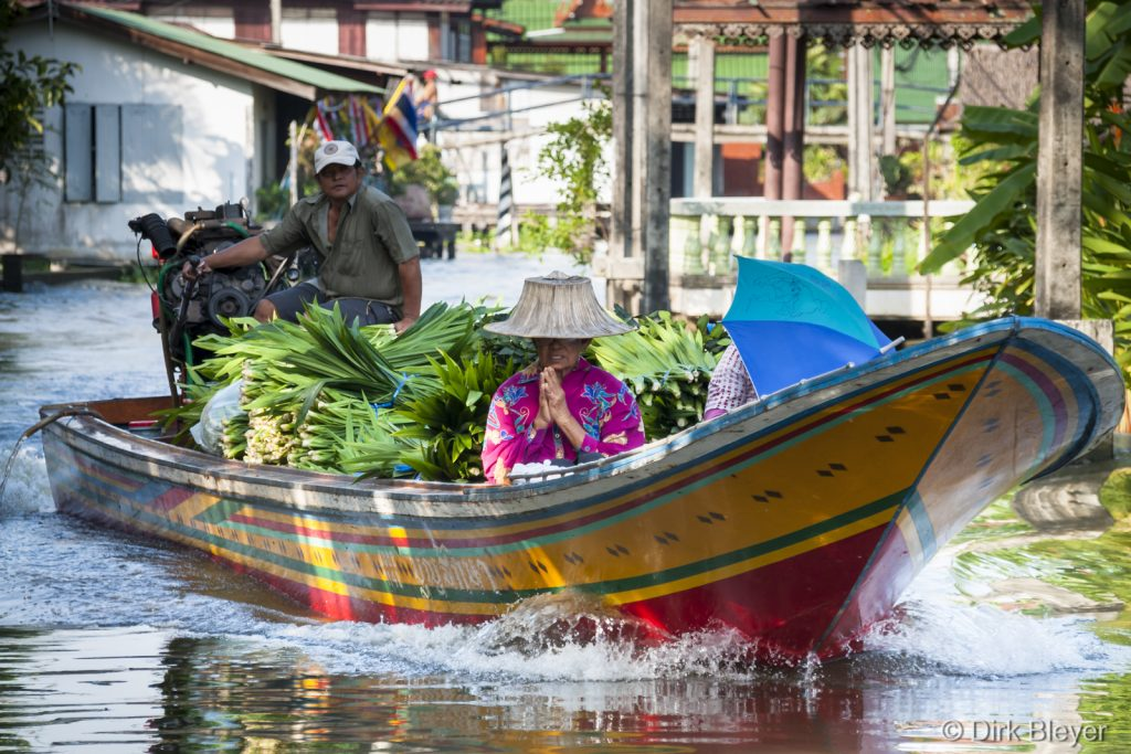 In den Klongs in Bangkok
