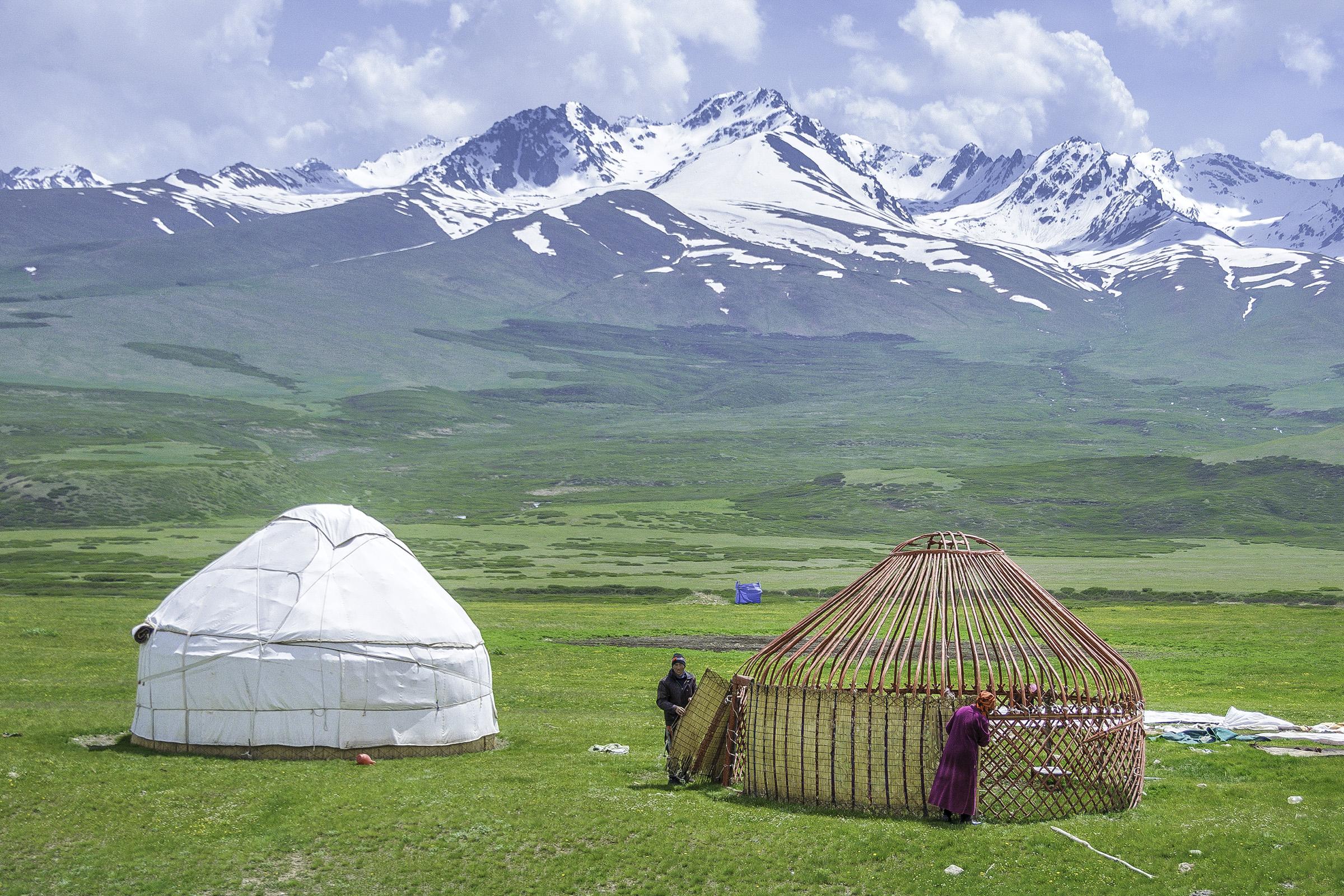 Kirgistan - Jurtenaufbau