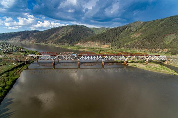 Transsib_Brücke über die Selenga