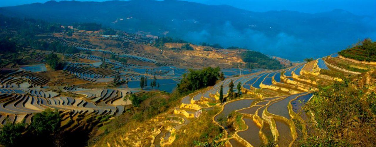 Terrassenfelder bei Yuenyang in Yunnan
